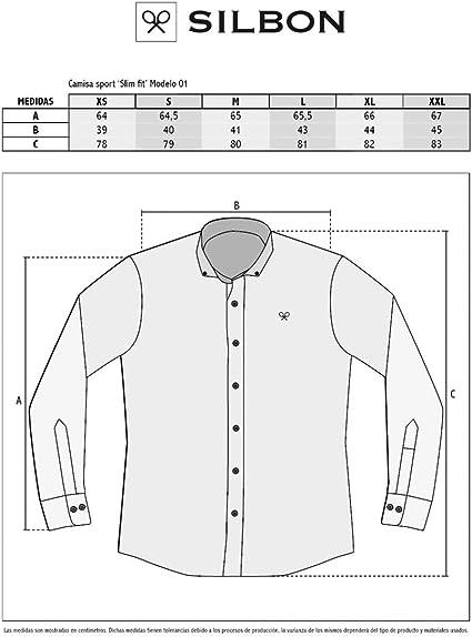 SILBON - Camisa Sport Garment Dye Rosa para Hombre: Amazon.es ...