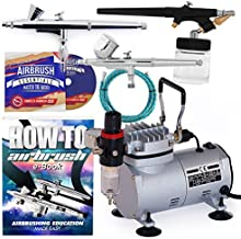 PointZero Airbrush Dual Action Airbrush Kit with 3 Airbrushes