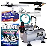 Best Airbrush Kits - PointZero Airbrush Dual Action Airbrush Kit with 3 Review