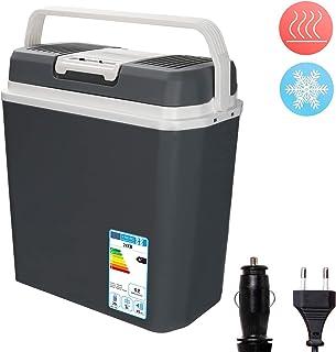 Hengda Nevera termoeléctrica portátil 24L, Conexiones 12/230 V, Mantiene el frío y el Calor, para Camping, Coche, picnics, Familia