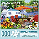 Bits and Pieces - 300 Piece Jigsaw Puzzle for Adults 18' X 24' - The Old Campground - 300 pc Bird and Animal Jigsaws by Artist Nancy Wernersbach