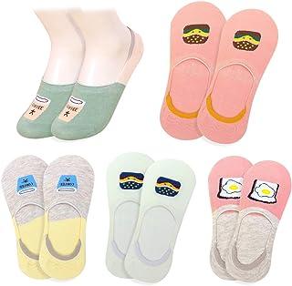 Sponsored Ad - Glamorstar Women Socks No Show Liner Socks Cotton Anti-skid Boat Socks 5 Pack