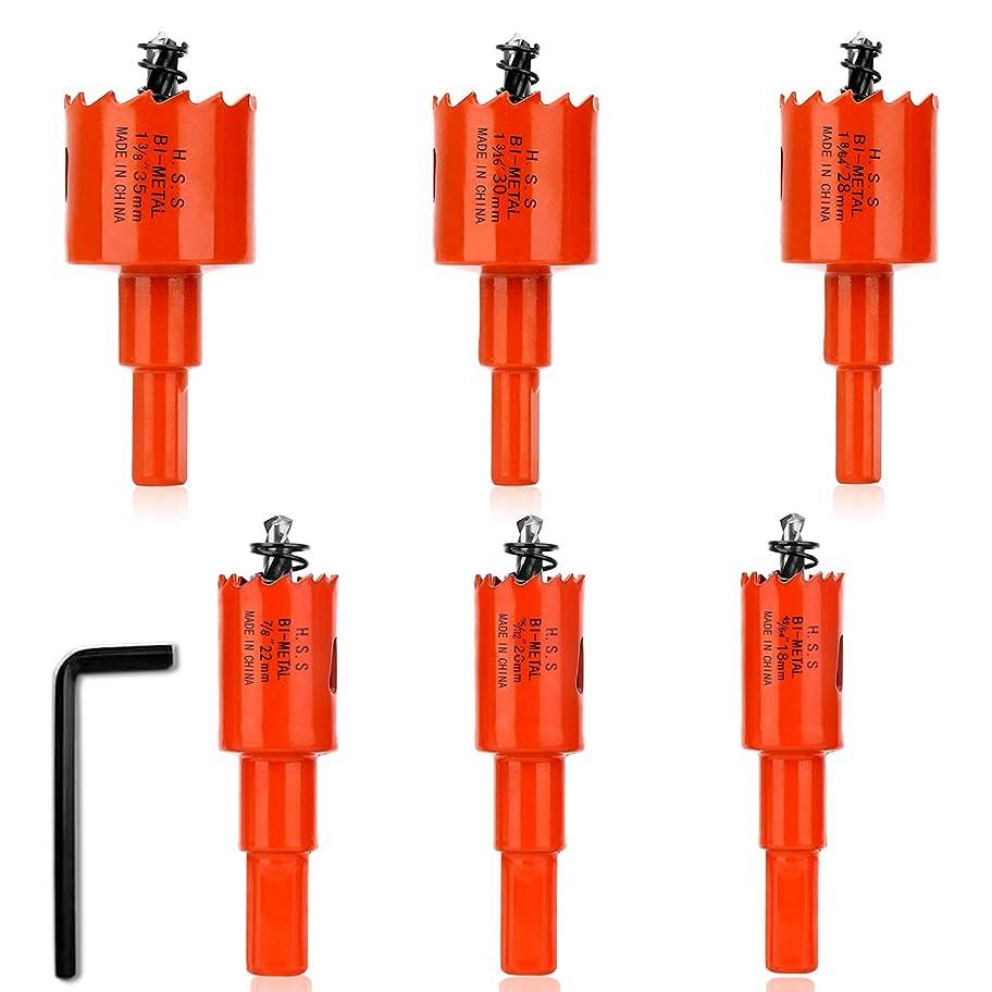 ブラウン圧力まだらバイメタル ホールソー 穴あけ ホルソー 工具 Borriem (18 20 22 28 30 35 mm)