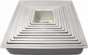 "PME 13x3"" SQUARE Anodised Aluminium Wedding Cake Tray Baking Pan Tin Bakeware"
