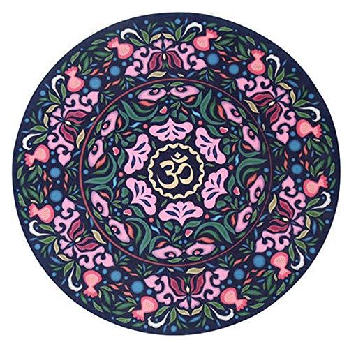 PQXOER Yogakussen, meditatiekussen, mat, rond, yogamat, antislip, natuurlijk rubber, voor thuis, hotel, yoga, zitkussen