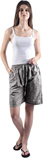 Gemmy Days (16184GBKM Womens Poly Cotton Bermuda Shorts Casual wear/Black Gingham Checks. Size M. Please Check Size Spec.