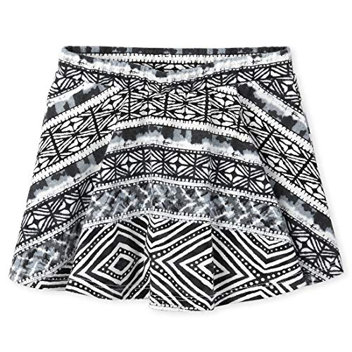 The Children's Place Baby Girls' Printed Matchable Skorts, Black, 6-9MONTHS