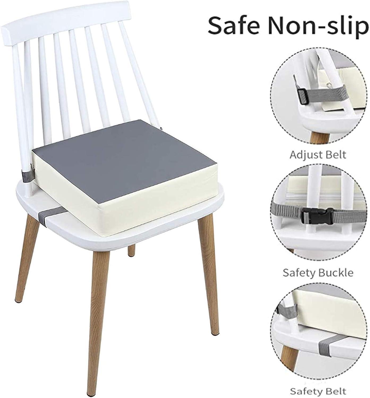 Silla m/óvil ajustable para comer a beb/é coj/ín elevador con 2 cinturones de seguridad con clips, YOKING
