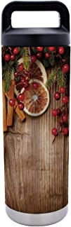 Gingerbread Man,Rustic Composition with Holly Berry Orange Slice Cinnamon and Biscuit Decorative,One size