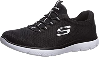 Skechers Summits Womens Slip On Bungee Sneakers Black/White 11 W