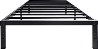 45MinST 14 Inch Platform Bed Frame/Easy Assembly Mattress Foundation / 3000lbs Heavy Duty Steel Slat/Noise Free/No Box Spring Needed, Twin/Full/Queen/King/Cal King(Twin)