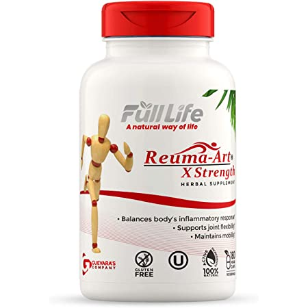 Full Life Reuma Art X Strength – 400 mg Herbal Supplements - Providing Strength and Relief – Supports Joint Pain, Anti Inflammatory – 180 Veggie Capsules