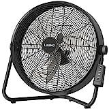 Lasko 20' High Velocity Fan with Remote Control, Black
