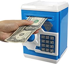 Elemusi Cartoon Electronic Password Mini ATM Piggy Bank Cash Coin Can Auto Scroll Paper..
