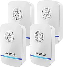 KedBrok Antizanzare Ultrasuoni 4 Pack, Repellente ad Ultrasuoni per Topi Dissuasori per Zanzare, Topi, Scarafaggi, Insett...