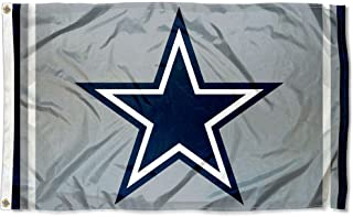 WinCraft Dallas Cowboys Metallic Silver Flag
