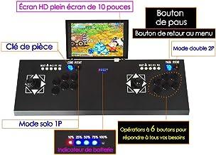 Ridecle Arcade Game Machine 3D Videojuegos clásicos Doble Jugadores Pantalla LCD HD 10Pulgadas y 2177Juegos clásicos del Interior de la Consola de Juegos de TV máquina