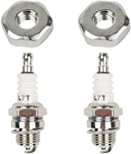 HIFROM 2 Set Tune-up Kit Bar Nut with Spark Plug for Stihl Chainsaw 010 011 012 024 026 029 030 MS250 MS230 MS240 Ms260 Ms270
