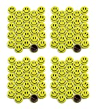 Classic Smiley Face Pinback Buttons - 1 Inch Size - 100 Pack