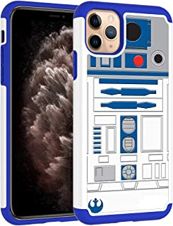 Defender Case for iPhone 11 Pro Max - R2D2 Droid Robot Pattern Shock-Absorption Hard PC and Inner Silicone Hybrid Dual Layer Armor Defender Protective Case Cover for iPhone 11 Pro Max 6.5 inch