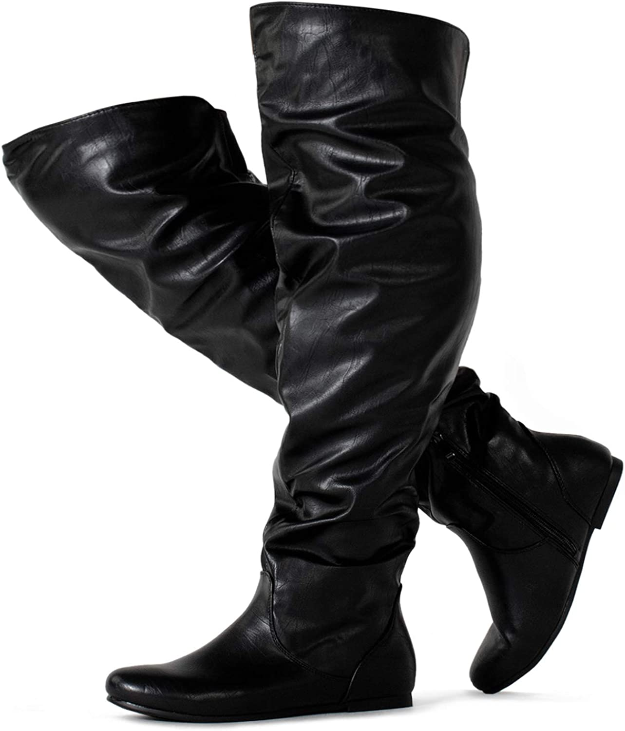 RF ROOM OF FASHION Women's Wide Calf Over The Knee High Slouchy Boots