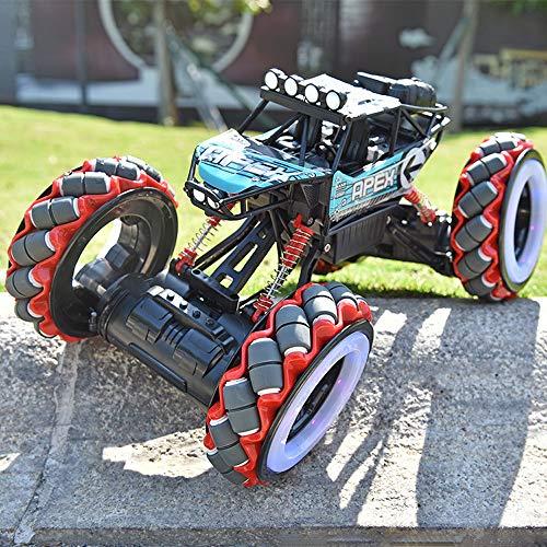 ADSVMEL RC Flash Car 4W Off Road Control Remoto Monster Truck Detección de Gestos Doble Cara Carreras Rock Crawler Stunt Drift Vehículo Recargable para niños Adultos