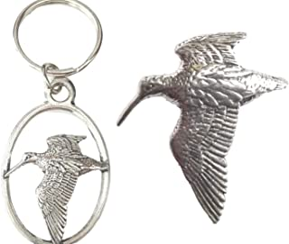 Emblems-gifts Beccaccia Portachiavi e Spilla Badge Inscatolato Set Regalo Fatto a Mano in Peltro Solido + 59mm Spilla