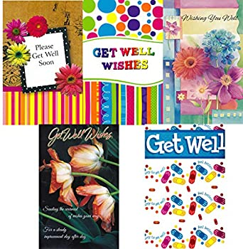 Assorted Get Well Greeting Cards in a Bulk 12 Pack