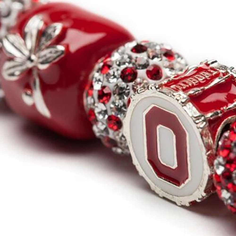 Ohio State OH-IO Drum Recommended Charm Jewelry New York Mall Bracelet Bead