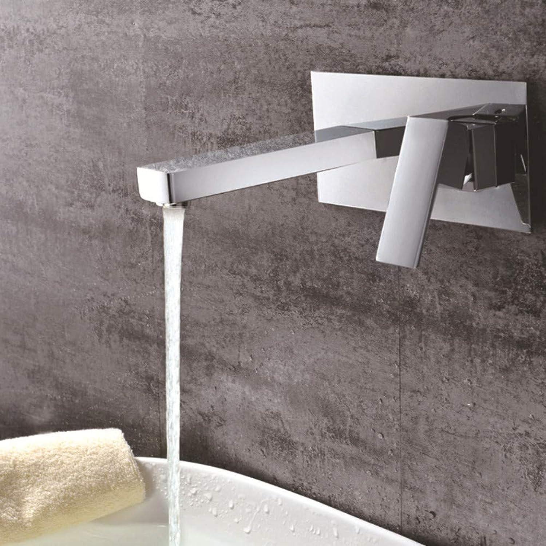 PajCzh Küchenarmaturen Waschtischarmaturen Dunkel Montierter Wandbassin-Wasserhahn Mit Vorintegrierter Box Mit Heiem Und Kaltem Wasserhahnprojekt