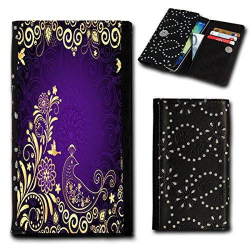 Strass Book Style Flip Handy Tasche Hülle Schutz Hülle Foto Schale Motiv Etui für Mobistel Cynus E4 - Flip SU2 Design4
