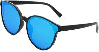 AMZTM Classic Retro Oversized Cat Eye Women Polarized Sunglasses Mirrored Lens