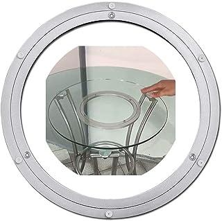 CYGG Cuscinetti Rotanti in Metallo,Grande Base per Vassoio Girevole Muto,Hardware di Piastra Rotante Susan in Legno Massello di Vetro