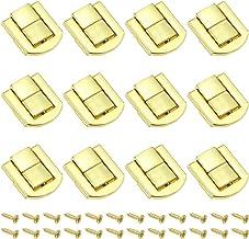 DXLing 12 Pieces Toggle Catch Lock 25 x 20.5mm Hasp Chest Lock Latch Retro Wood Box Chest Lock Latch Clasp Trinket Box Loc...