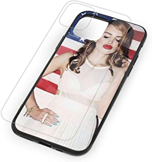 Lana Del Rey Tempered Glass Case for iPhone 11,iPhone 11 Pro and iPhone 11 Pro Max, 9H Glass Back Cover + TPU Soft Shell for iPhone 11 Series