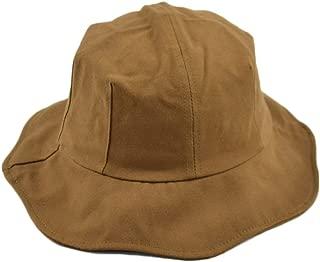 Wild Casual Sunhat Ladies Basin Hat Gray-Purple Lace Fisherman Hat (Color : Camel, Size : M (56-58cm))