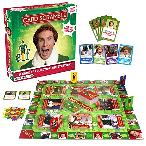 AQUARIUS Elf Card Scramble Board Game - Elf The Movie Themed Christmas Board Game - Fun Family for Kids and Adults - Officially Licensed Elf Movie Merchandise & Collectibles