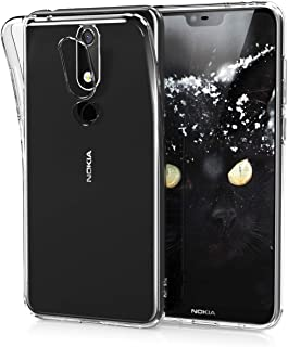 kwmobile Crystal Case for Nokia 5.1 Plus (2018) / X5 - Soft Flexible TPU Silicone Protective Cover - Transparent transpare...