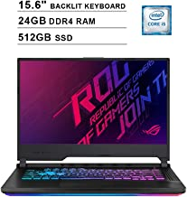 ASUS 2019 ROG Strix 15.6 Inch FHD Gaming Laptop (9th Gen Intel Quad-core i5-9300H up to 4.1 GHz, 24GB RAM, 512GB SSD, NVIDIA GeForce GTX 1660 Ti, RGB Keyboard, Bluetooth, WiFi, HDMI, Windows 10)