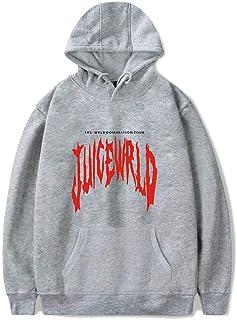 FUREIN Juice Wrld Printing Casual Round Neck Hoodie Pullover Men and Women Long Sleeve Sweatshirt