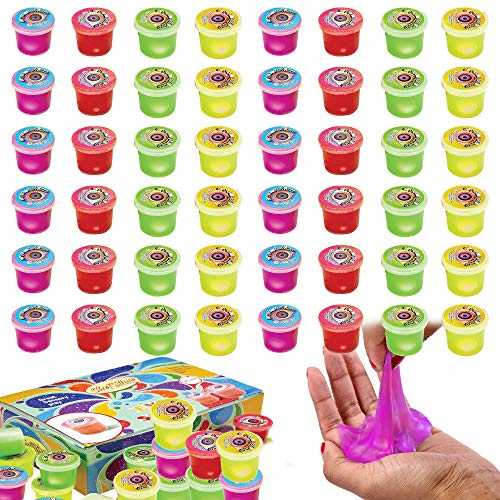 Eye Slime Cool Putty - Non Sticky, Stress & Anxiety Relief, Wet, Super Soft Sludge Toy with an Eye Ball Inside - Party Favor for Kids and Adults - | Jumbo Pack of 48 PCS