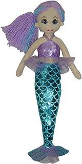 Snuggle Stuffs Blue/Purple Pearl Mermaid Plush Doll, 17