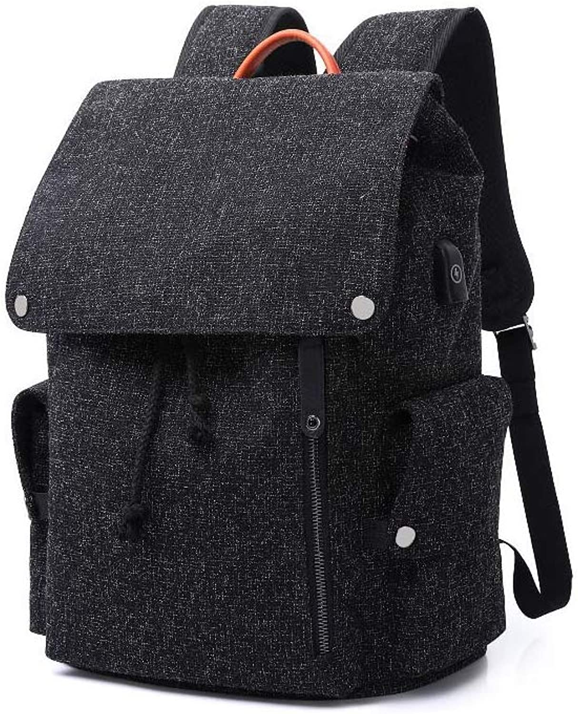NDYE Men Backpack for 15.6 Inches Laptop USB Backpack Large Capacity Stundet Backpack Water Repellent Rucksack