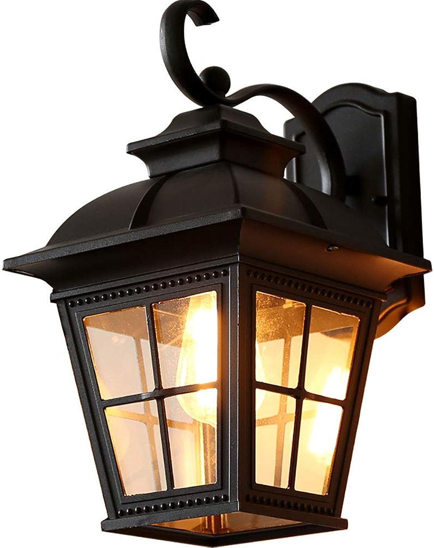 Vinmin EIN-Licht-Auenwandlaterne Wandmontage-Auenleuchte Kreuzgitter-Wandleuchte Hochdurchlssiges Glas Sandy schwarz