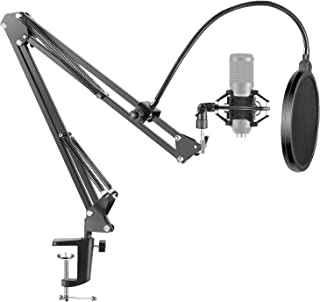 Neewer NW-35 Microphone Suspension Boom Scissor Arm Stand with Mic Clip Holder, Pop Filter and Shock Mount for Streaming, ...