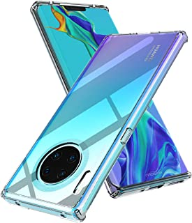 Huawei Mate 30 Pro Case, URMax Air Cushion Shockproof Anti-Scratch Clear Shield Crystal Transparent Back Cover Hybrid Soft TPU Bumper Slim Protective Cellphone Case Fit for Huawei Mate 30 Pro