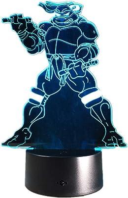 WSXYD 3D Luz Nocturna Lámparas de mesa mesilla de noche 7 ...