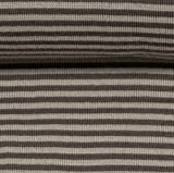 Ringel-Bündchen Andy Streifen, 3 mm, hell-/dunkelgrau