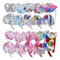 7Rainbows Girls Boutique Grosgrain Ribbon Headbands with Bows