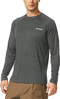 Men's UPF 50+ Sun Protection Shirts Long Sleeve Dri Fit SPF T-Shirts Lightweight..